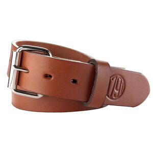 "1791 Gunleather Gun Belt 01 Size 46"" to 50"" Made From American Heavy Native Steer Hide Leather Classic Brown"