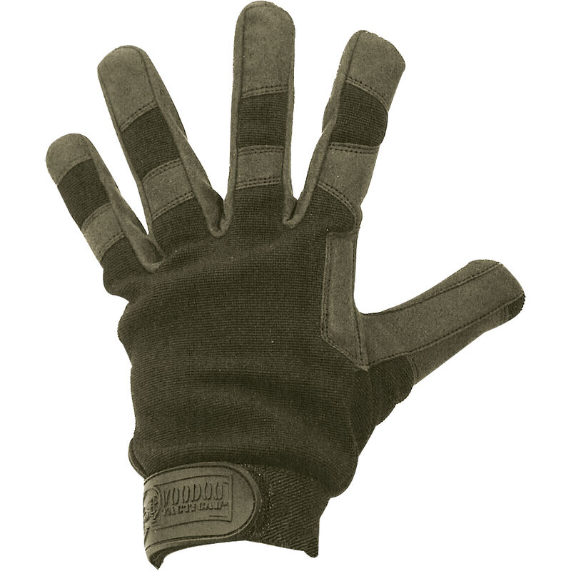 Voodoo Crossfire Gloves Synthetic Leather Nylon Extra Large OD Green
