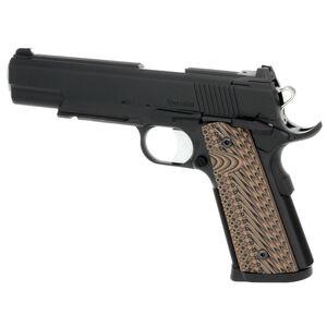 "Dan Wesson Specialist Black Full Size 1911 .45 ACP Semi Auto Pistol 5"" Barrel 8 Rounds Fixed Night Sights G10 Grips Matte Duty Black Finish"