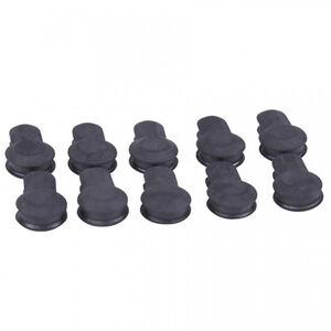 Guntec AR-15 Gen 2 KeyMod Rubber Neoprene Insert Covers with Protruding Grooves Neoprene Black 10 Pack