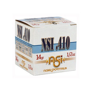 """NobelSport Target Skeet .410 Gauge 2-1/2"""" #9 Lead 1/2 Ounce 25 Round Box"""