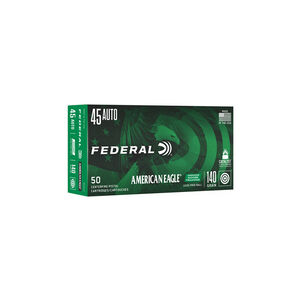 Federal American Eagle .45 ACP Ammunition 50 Rounds Lead Free FMJ 140 Grain