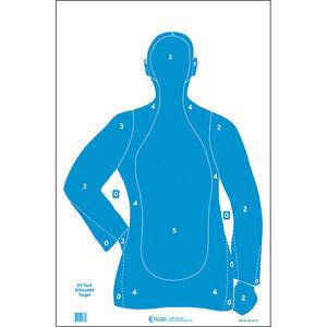 "Action Target B-21 Qualification Target 25 Yard 23"" x 35"" Paper Blue 100 Pack"