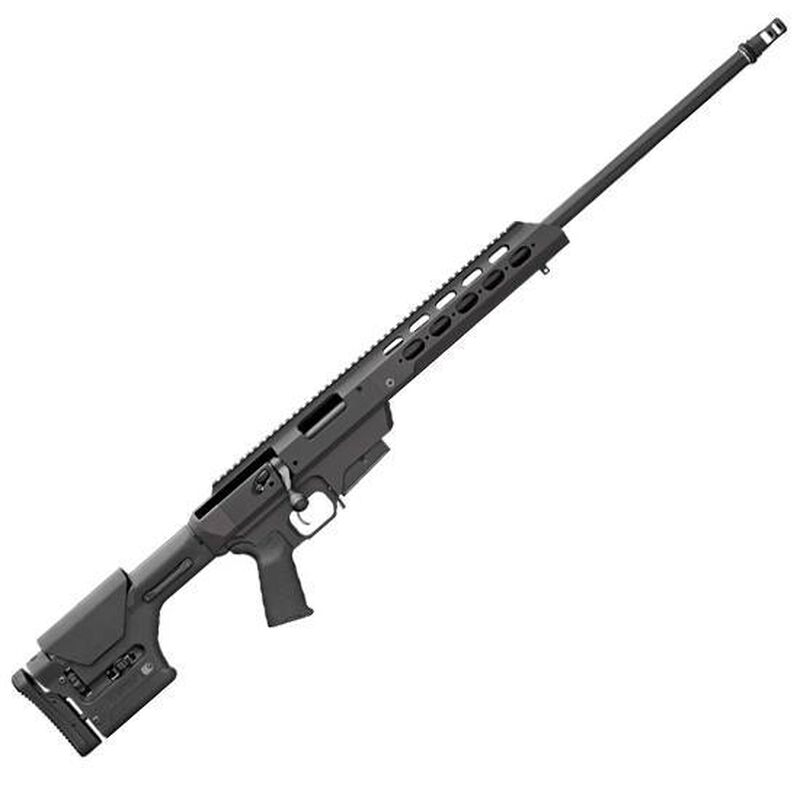 """Remington Model 700 Tactical Chassis Bolt Action Rifle .300 Win Mag 24"""" Barrel Free Floated Magpul PRS Stock AAC 51-T Ratchet Mount Muzzle Brake X-Mark Pro Trigger Black 84475"""