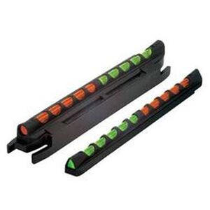 HIVIZ Two-In-One Magnetic Shotgun Front Sight Reversible LitePipe Round And Triangle Orange And Green