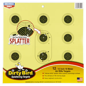 "Birchwood Casey Dirty Bird 10 Meter Air Rifle 12"" Targets Contrasting Colors 12 Targets"