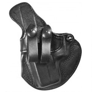 "DeSantis Cozy Partner IWB Holster Left Hand Fits GLOCK 17/19/22/23/36 and Ruger SR9/SR40 1-1/2"" Belt Leather Black"