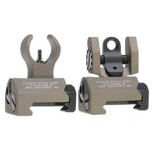 Troy Industries Micro BattleSights HK Style Folding Low Profile Aluminum Flat Dark Earth SSIG-IAR-SMFT-00