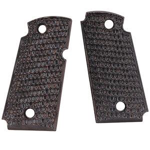 Hogue Kimber Micro 9 Ambidextrous Safety Grip Piranha G10 G-Mascus Black/Grey