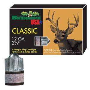 "Brenneke 12 Gauge 2.75"" 1.125 oz Rifled Slug 5 Round Box"