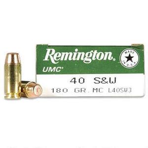 Remington .40 S&W UMC Ammunition 50 Rounds MC 180 Grains