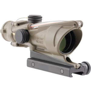 Trijicon ACOG 4x32 Red Dual Illuminated .223 Chevron Reticle with TA51 Mount, Cerakote Flat Dark Earth