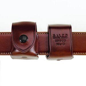 """Galco Belt Speedloader Carrier Ambidextrous Fits HKS 27-A/N-Frame .357 Speedloader 1-3/4"""" Belt Leather Tan"""