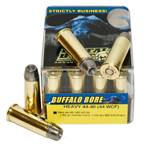 Buffalo Bore Heavy 44-40 WCF Ammunition 20 Rounds 185 Grain Lead Hollow Point 1150fps