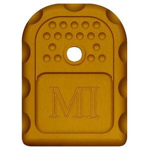 Midwest Industries GLOCK Magazine Floor Plate 6061 Aluminum Anodized Finish Orange