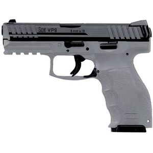"H&K VP9 9mm Luger Semi Auto Pistol 10 Rounds 4.09"" Barrel Striker Fired 3-Dot Night Sights Polymer Frame Grey Finish"