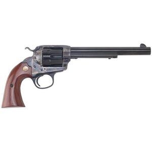 "Cimarron Bisley Single Action Revovler .45 Long Colt 7.5"" Barrel 6 Rounds Walnut Grips Case Hardened Frame Blued CA614"