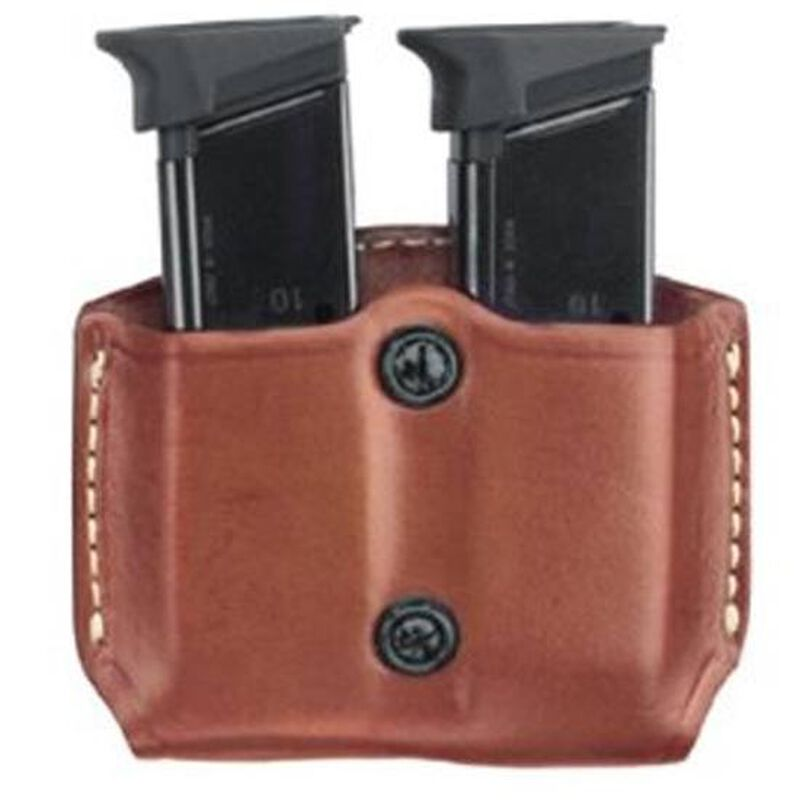 Gould & Goodrich Gold Line Beretta 84, Colt (all), HK P2000, P30, Kimber (all except Polymer), SIG Sauer (all), Ruger (all) S&W (all except Sigma) Double Magazine Case Paddle Back Leather Tan 831-3