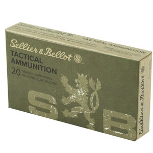 Sellier & Bellot 7.62x51 NATO Ammunition 147 Grain FMJ Projectile 2808 fps