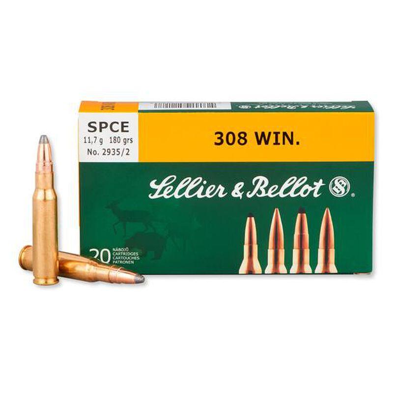 Sellier & Bellot .308 Winchester Ammunition 180 Grain Soft Point Cutting Edge Bullet 20 Rounds 2516