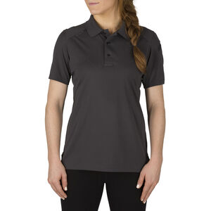 5.11 Tactical Women's Helios Short Sleeve Polo Large Charcoal
