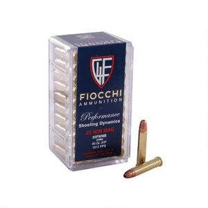 FIOCCHI .22 WMR Ammunition 2000 Rounds, Shooting Dynamics JHP, 40 Grains