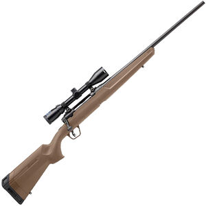 """Savage Arms Axis II XP .30-06 Springfield Bolt Action Rifle 22"""" Barrel 4 Rounds with 3-9x40 Scope FDE Synthetic Stock Matte Black Finish"""
