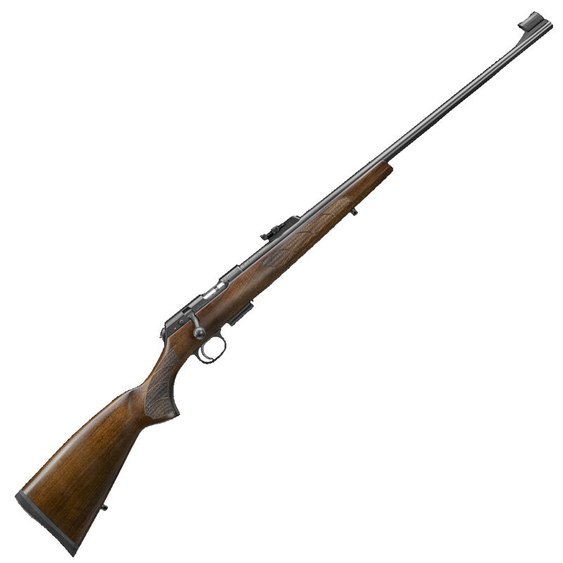 "CZ USA CZ 457 Lux .22 WMR Bolt Action Rifle 24.8"" Barrel 5 Rounds DBM European Style Turkish Walnut Stock Black Finish"