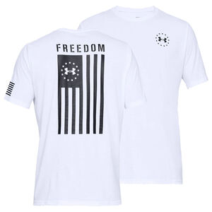 Under Armour Freedom Flag Men's Tactical T-Shirt, Black/White