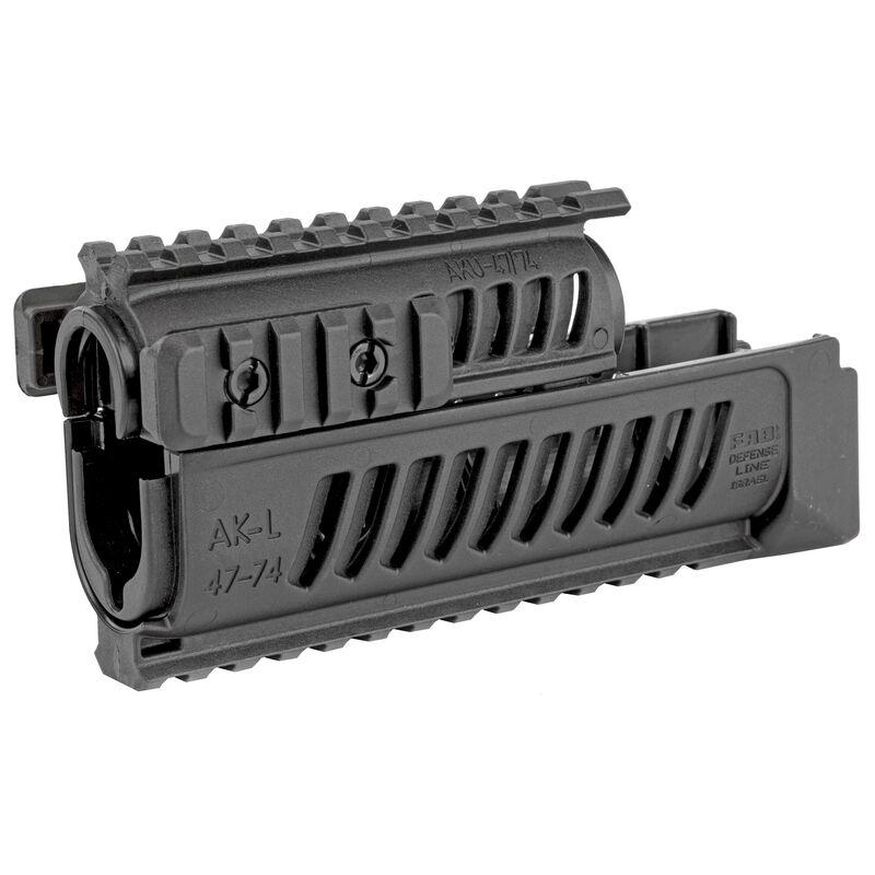 FAB Defense AK-47/AK-74 Quad Rail Hand Guard Set Picatinny Rails Polymer Construction Matte Black Finish