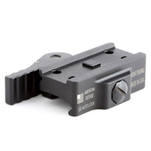 American Defense Manufacturing Aimpoint T1/T2/H1 Micro Mount Low Height QD Auto Lock Lever Aluminum Black