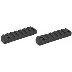 "Maxim Defense Industries M-RAX M-Slot Mounting System 3.1"" Picatinny Rail 6061-T6 Billet Aluminum Hard Coat Anodized Matte Black 2 Pack"