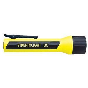 Streamlight 3C ProPolymer Series LED Flashlight 85 Lumen 3x C Batteries Tail Cap Switch Pocket Clip Polymer Yellow 33202