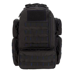 "Voodoo Tactical Mini Tobago Cargo Pack 14""x 9""x17.5"" 25 Liter Black with Blue stitching"