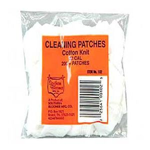 Southern Bloomer .22 Caliber Cotton Cleaning Patches, Bag of 200