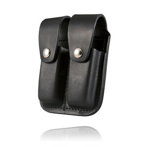 Boston Leather Company Double-Stack .45 ACP Double Magazine Pouch Leather Black 5602-1