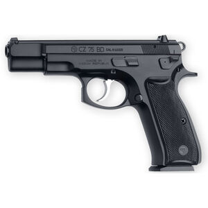 "CZ 75 BD Semi Automatic Handgun 9mm 4.7"" Barrel 10 Rounds Decocking Lever Polymer Grips Black Polycoat Finish"