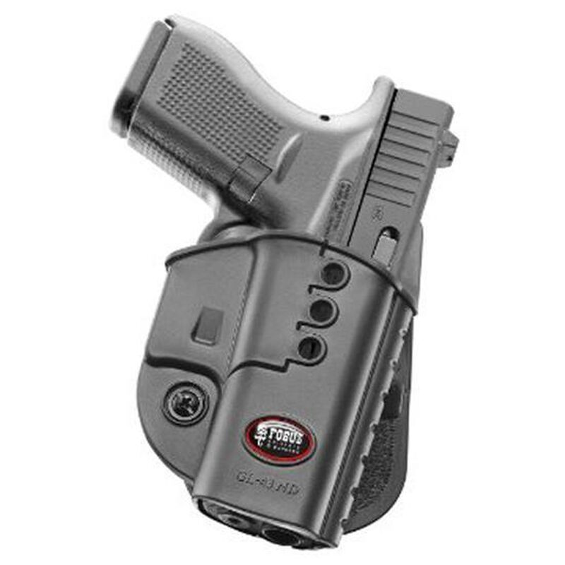 Fobus Evolution Paddle Holster For GLOCK 43 Right Hand Polymer Black GL43ND