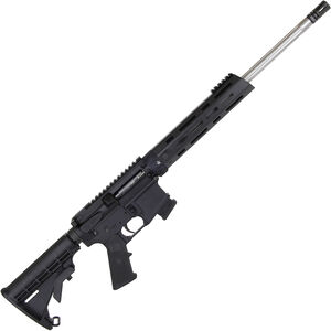 """Alexander Arms .17 HMR AR-15 Style Semi Auto Rimfire Rifle 18"""" Fluted Threaded Barrel 10 Rounds Free Float Handguard Collapsible Stock Black Finish"""