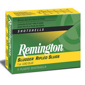 Remington 12 Gauge Slugger Ammunition Five Rounds 438 Grain Rifled Slug 3""