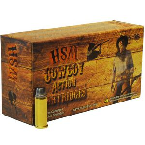 HSM .357 Magnum Cowboy Ammunition 50 Rounds Lead SWC 158 Grains HSM-357-1-N