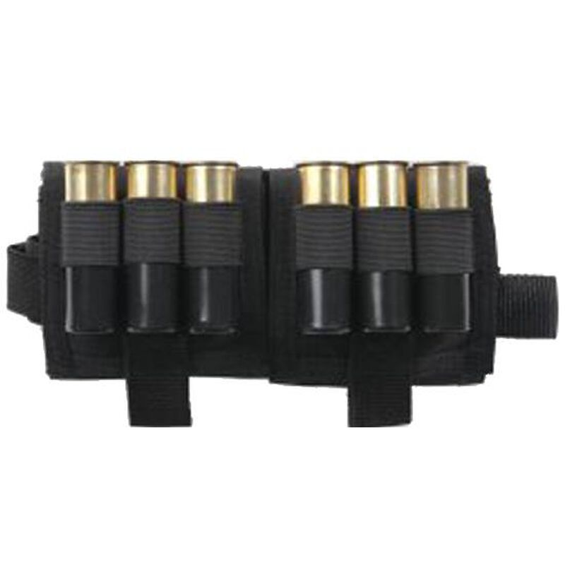 "Bulldog Cases Bi-fold Compact ""Drop Down"" Shotgun Shell Pouch 4""x6"" Nylon Black CLT-64"