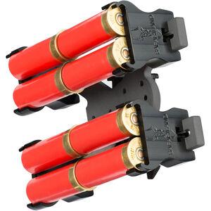 Safariland Model 086 Double 8 Shotgun Shell Holder, Belt Clip, Black