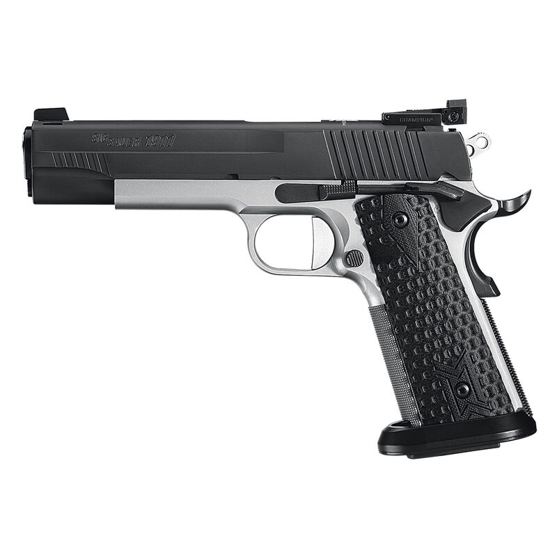 "SIG Sauer 1911 Max Michel Jr 9mm Luger Semi Auto Handgun 5"" Barrel 9 Rounds Adjustable Sights Black G10 Grips Two Tone Finish"