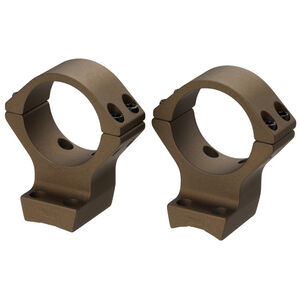 Browning X-Bolt Scope Rings 30mm Tube Low Height Burnt Bronze Cerakote