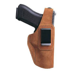 Bianchi #6D GLOCK 20/21/29/30 Adjustable Thumb Break Holster Right Hand Suede Leather Tan 19052