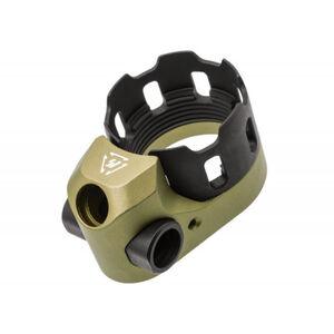Strike Industries TRIBUS Enhanced Castle Nut & Extended End Plate FDE SI-AR-TRIBUS-FDE