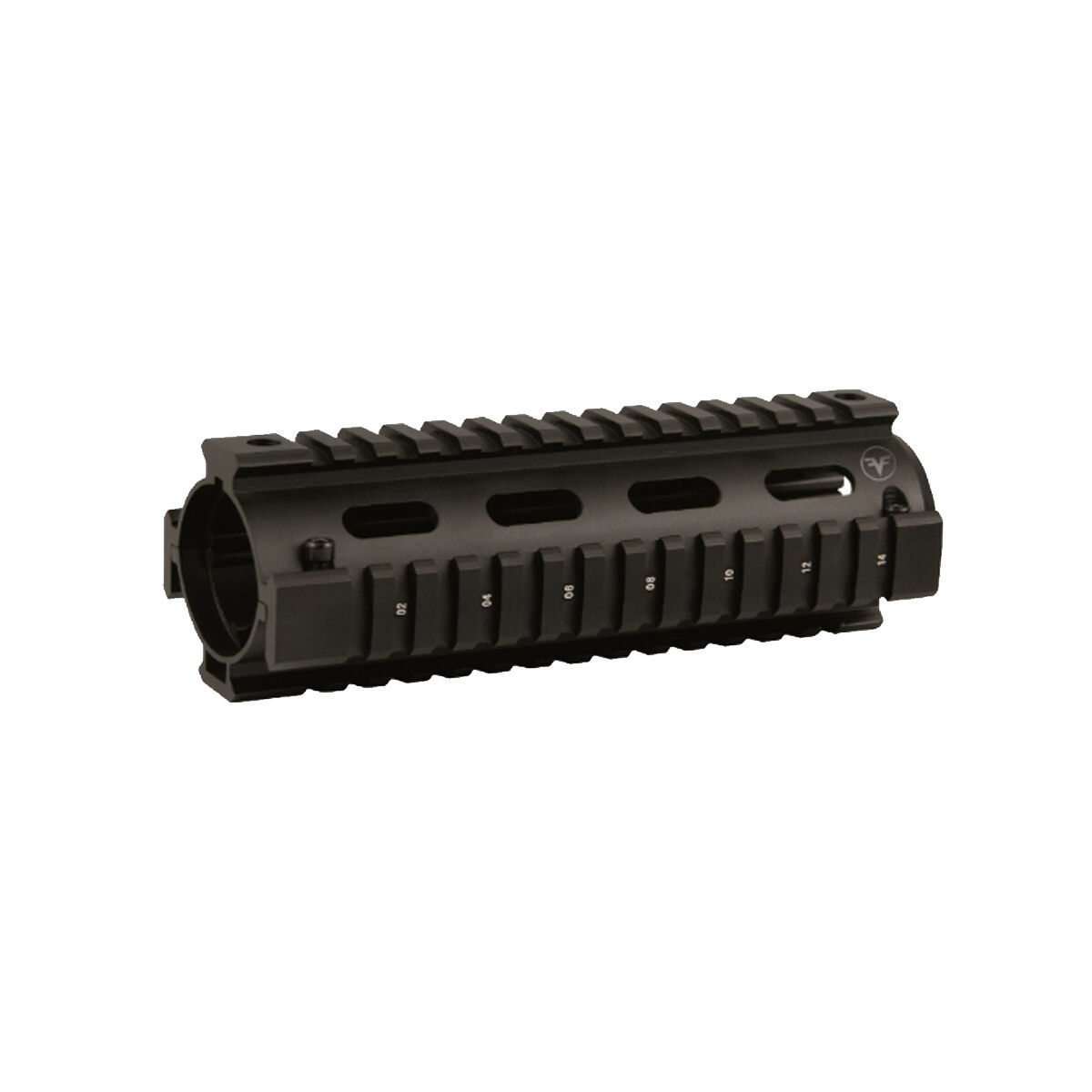 6.7 inch Carbine Length Two Piece Drop In Quad Rail Handguard Fit Round Cap 223