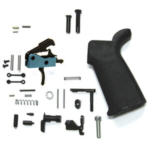 Black Rain Ordnance AR15 Complete Lower Parts Kit Enhanced Version Magpul MOE Pistol Grip/BRO Drop In Trigger Matte Black