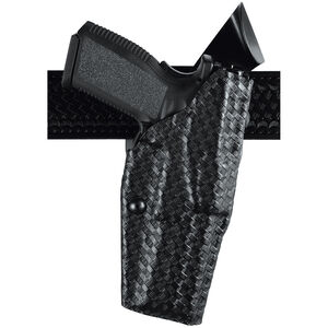 """Safariland 6360 ALS SLS Left Hand Mid Ride Level III Retention Duty Holster for Springfield XD 9mm .40S&W 4"""" Barrel with Light Basket Weave Black 6360-1482-82"""